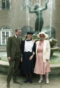 Hazel Hall with her parents graduating with her French degree from the University of Birmingham in 1986
